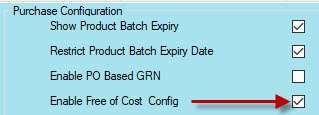 enable free of cost configuration