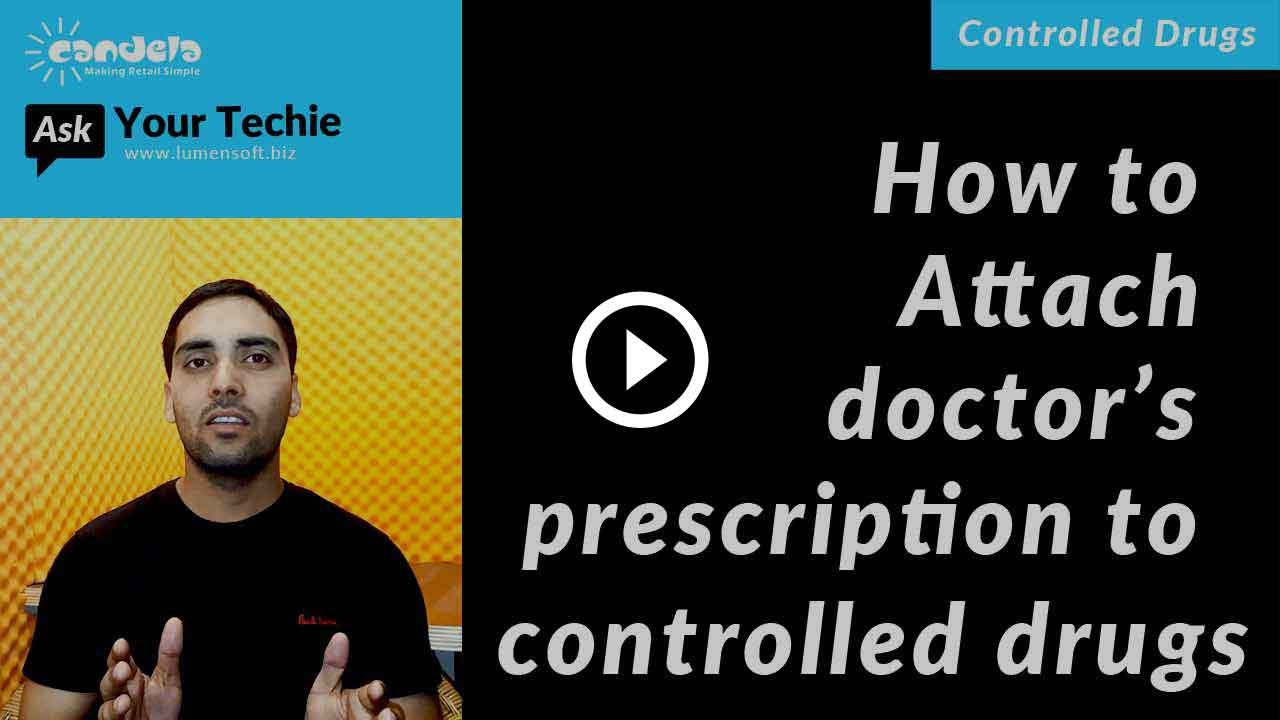Controlled drug management: Attaching-doctor's-prescription-to-controlled-drugs