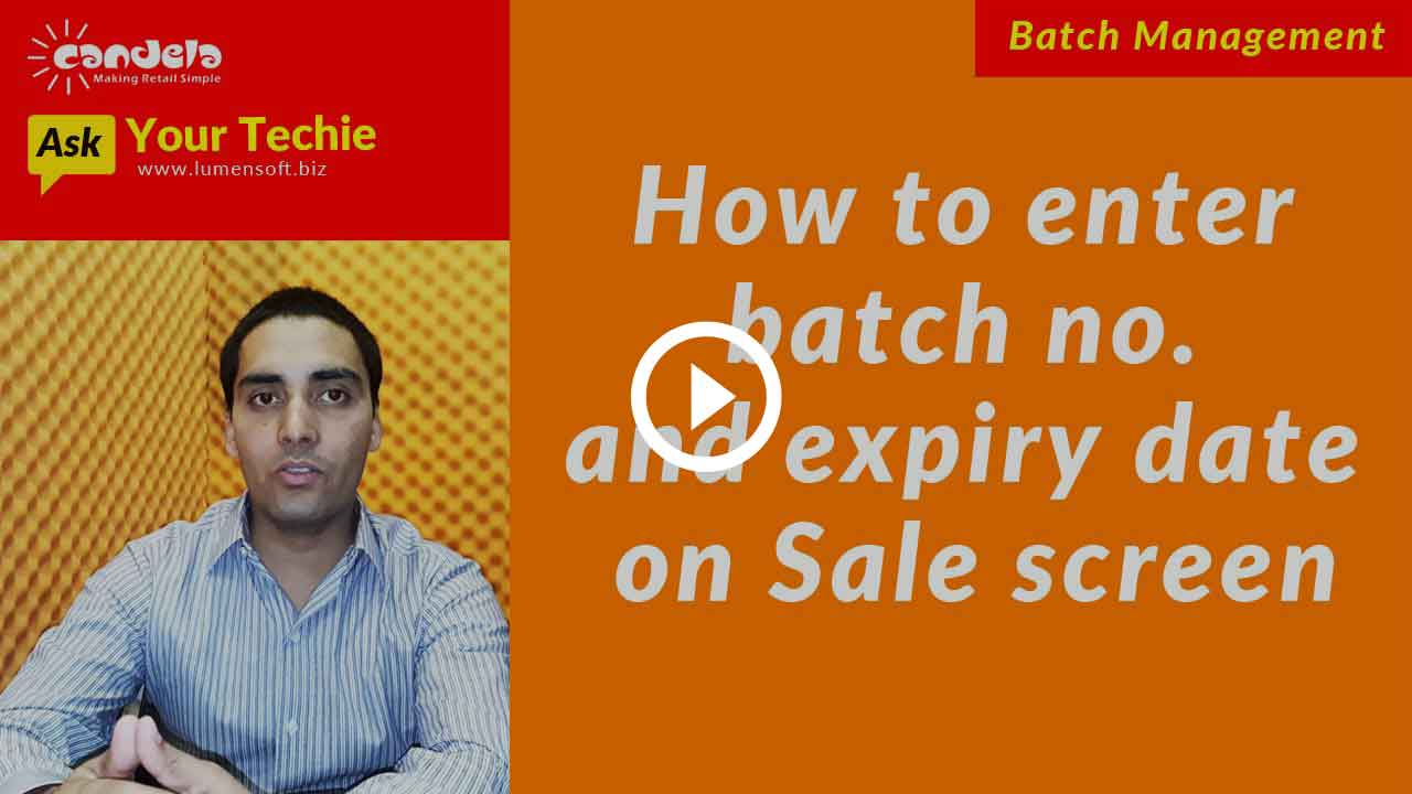 Batch & Expiry Date Management: Entering batch number and expiry date on sales and return