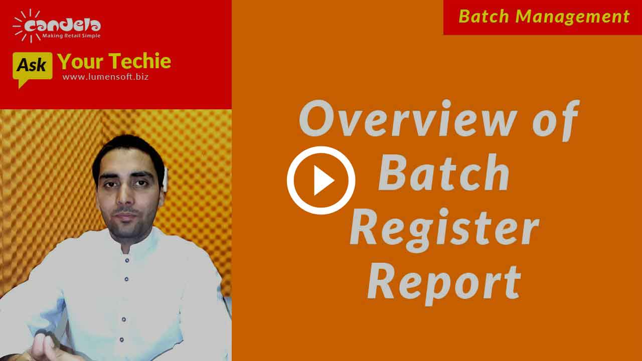Overview of Batch Register Report