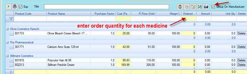 Purchase order management-Group on manufacturers