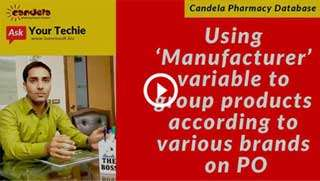 Pharmacy software tutorials: grouping on manufacturers