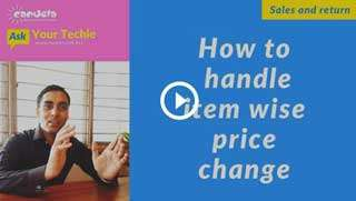 sales and return in pharmacy-How-to-handle-item-wise-price-change