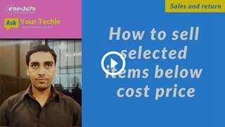 Sales and Return in pharmacy-How-to-sell-selected-items-below-cost-price