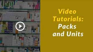 Candela pharmacy software-Packs-and-units