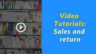 retail software tutorials: pharmacy-sales-and-return